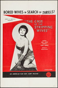 """The Case of the Stripping Wives (AFDC, 1966). One Sheet (27"""" X 41""""). Adult"""