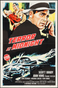 """Movie Posters:Crime, Terror at Midnight & Other Lot (Republic, 1956). One Sheets (2)(27"""" X 41"""") Flat Folded. Crime.. ... (Total: 2 Items)"""