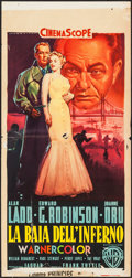 "Movie Posters:Crime, Hell on Frisco Bay (Warner Brothers, 1955). Italian Locandina (13""X 27""). Crime.. ..."
