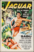 "Movie Posters:Adventure, Jaguar (Republic, 1955). One Sheet (27"" X 41"") Flat Folded.Adventure.. ..."