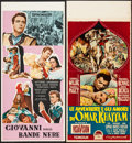 "Movie Posters:Adventure, Omar Khayyam & Other Lot (Paramount, 1957). Italian Locandinas(2) (13"" X 27.5""). Adventure.. ... (Total: 2 Items)"