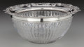 Silver Holloware, American:Bowls, A Wilcox Cut-Glass and Silver Rimmed Bowl, Meriden, Connecticut,circa 1898. Marks: STERLING, (Wilcox logotype). 4 inche...
