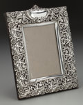 Silver Holloware, British:Holloware, A Henry Matthews Edwardian Silver Overlay Picture Frame,Birmingham, England, circa 1906. Marks: (lion passant),(anchor),...