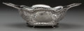 Silver Holloware, Continental, A German Silver Reticulated Basket, Hanau, Germany, circa 1880.Marks: (crown-H), S, (lion passant-2). 3-1/2 x 12-1/8 x ...