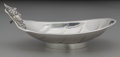 Silver Holloware, American:Bowls, An Albert Coles Coin Silver Figural Olive Dish, New York, New York,circa 1850. Marks: (circle-diamond-circle). 3 inches hig...