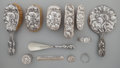 Silver Flatware, American:Unger Brothers, A Twelve Piece Unger Brothers Dawn Pattern Silver VanitySet, Newark, New Jersey, circa 1904. Marks: (logotype),... (Total:12 Items)