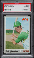 Baseball Cards:Singles (1970-Now), 1970 Topps Bob Johnson #693 PSA Gem Mint 10 - Pop Four....
