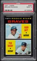 Baseball Cards:Singles (1970-Now), 1971 Topps Braves Rookies #494 PSA Mint 9....