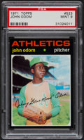 Baseball Cards:Singles (1970-Now), 1971 Topps John Odom #523 PSA Mint 9....