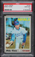 Baseball Cards:Singles (1970-Now), 1970 Topps Mike Fiore #709 PSA Gem Mint 10 - Pop Four....