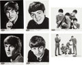 Music Memorabilia:Photos, Beatles - A Group of Black and White Publicity Photographs by DezoHoffman (1964)....