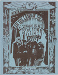 Music Memorabilia:Posters, Grateful Dead Fresno, CA Mini Concert Poster, Blue Version(1967)....