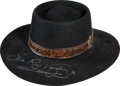Music Memorabilia:Autographs and Signed Items, Stevie Ray Vaughan Signed Hat....