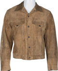 Music Memorabilia:Costumes, Beatles - A John Lennon Owned Levi's Suede Jacket Gifted ThroughBob Dylan (1960s). ...