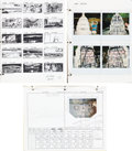 "Movie/TV Memorabilia:Documents, A Group of Storyboards and Color Photographs from ""IndependenceDay.""..."