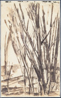 Music Memorabilia:Original Art, Beatles - Stuart Sutcliffe Original Pen and Ink Sketch of Plants (Late 1950s)....
