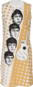 Music Memorabilia:Memorabilia, A Beatles Vintage Sleeveless Dress (Holland, 1960s). ...