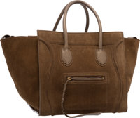 "Celine Khaki Suede Phantom Luggage Tote Bag Very Good Condition 15"" Width x 10"" Height x 9"" Dep"