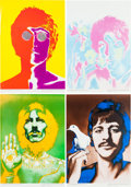 Music Memorabilia:Posters, A Full Set of Psychedelic Beatles Portrait Posters By RichardAvedon for Stern magazine (Germany, 1968).... (Total: 4Items)
