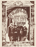 Music Memorabilia:Posters, Grateful Dead Fresno, CA Mini Concert Poster Tan Version (1967)....