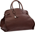 "Luxury Accessories:Travel/Trunks, Hermes 50cm Havane Clemence Leather Atlas Travel Bag with Palladium Hardware. Excellent Condition. 19.5"" Width x 15"" H..."