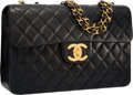 """Luxury Accessories:Bags, Chanel Black Quilted Lambskin Leather Maxi Single Flap Bag with Gold Hardware . Very Good to Excellent Condition . 13""""..."""