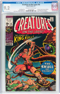 Bronze Age (1970-1979):Horror, Creatures on the Loose #10 (Marvel, 1971) CGC NM- 9.2 Off-white towhite pages....