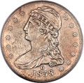 Proof Reeded Edge Half Dollars, 1838-O 50C GR-1, R.7, SP50 PCGS Secure....