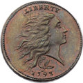 1793 1C Wreath Cent, Vine and Bars, S-6, B-7, R.3, MS66 Red and Brown PCGS. CAC. ...(PCGS# 35451)