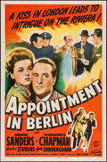 "Movie Posters:War, Appointment in Berlin (Columbia, 1943). One Sheet (27"" X 41"").War.. ..."