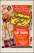 "Movie Posters:Sexploitation, Everybody's Girl (Roadshow Attractions, 1950). One Sheet (27"" X41""). Sexploitation.. ..."