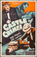 "Movie Posters:Mystery, The House of the Arrow (PRC, 1944). One Sheet (27"" X 41""). Mystery.Alternate Title: Castle of Crimes.. ..."