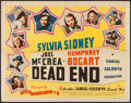 "Movie Posters:Crime, Dead End (Film Classics, R-1944). Half Sheet (22"" X 28""). Crime....."