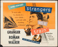 """Movie Posters:Hitchcock, Strangers on a Train (Warner Brothers, 1951). Half Sheet (22"""" X28""""). Hitchcock.. ..."""