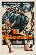 "Movie Posters:War, El Alamein (Columbia, 1953). One Sheet (27"" X 41""). War.. ..."
