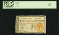Colonial Notes:Georgia, Georgia 1776 $10 Orange Seal PCGS Very Fine 35.. ...