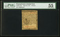 Colonial Notes:Pennsylvania, Pennsylvania April 10, 1777 9d PMG About Uncirculated 55.. ...