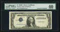 Error Notes:Inverted Third Printings, Fr. 1614 $1 1935E Silver Certificate. PMG Extremely Fine 40.. ...