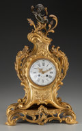 Decorative Arts, French:Other , A Black, Starr, & Frost Louis XV-Style Gilt Bronze FiguralClock, circa 1880. Marks to face: BLACK, STARR & FROST, NEWYORK,...