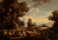 Fine Art - Painting, European:Antique  (Pre 1900), D. Buson (French, 19th Century). River Landscape. Oil oncanvas. 35-1/2 x 51 inches (90.2 x 129.5 cm). Signed lower righ...