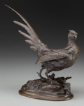 Fine Art - Sculpture, European:Antique (Pre 1900), Paul-Édouard Delabrièrre (French, 1829-1912). Le Faisan,1889. Bronze with brown patina. 12 inches (30.5 cm) high. Inscr...