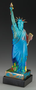 Fine Art - Sculpture, American:Contemporary (1950 to present), Peter Max (American, b. 1937). Liberty, 1990. Paintedbronze. 20-1/2 inches (52.1 cm) high on a 2 inches (5.1 cm) highm...