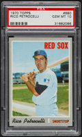 Baseball Cards:Singles (1970-Now), 1970 Topps Rico Petrocelli #680 PSA Gem Mint 10 - Pop Four....