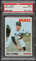 Baseball Cards:Singles (1970-Now), 1970 Topps Bob Priddy #687 PSA Gem Mint 10....