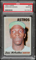 Baseball Cards:Singles (1970-Now), 1970 Topps Leon McFadden #672 PSA Gem Mint 10 - Pop Three....