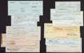 Miscellaneous Collectibles:General, Hollywood Stars Signed Checks Lot of 14....