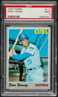 Baseball Cards:Singles (1970-Now), 1970 Topps Don Young #117 PSA Mint 9....