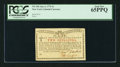 Colonial Notes:New York, New York January 6, 1776 (Water Works) 2s PCGS Gem New 65PPQ.. ...