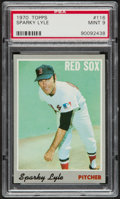 Baseball Cards:Singles (1970-Now), 1970 Topps Sparky Lyle #116 PSA Mint 9....