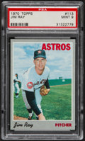 Baseball Cards:Singles (1970-Now), 1970 Topps Jim Ray #113 PSA Mint 9....